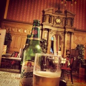 Beer in Budapest Keleti station bar