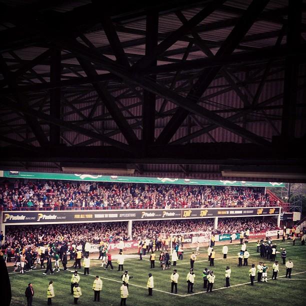 Doncaster Rovers Celebrate at Brentford
