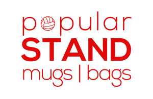 popular STAND logo linking tomugs and bags shop