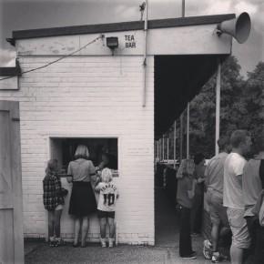 Tea-room at non-league football ground, Berkhamstead FC