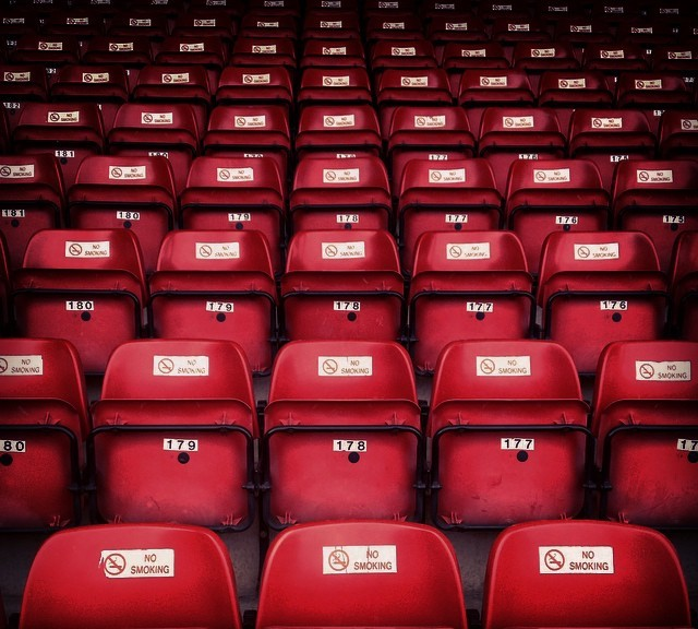 Seats at the Bescot Stadium, Walsall