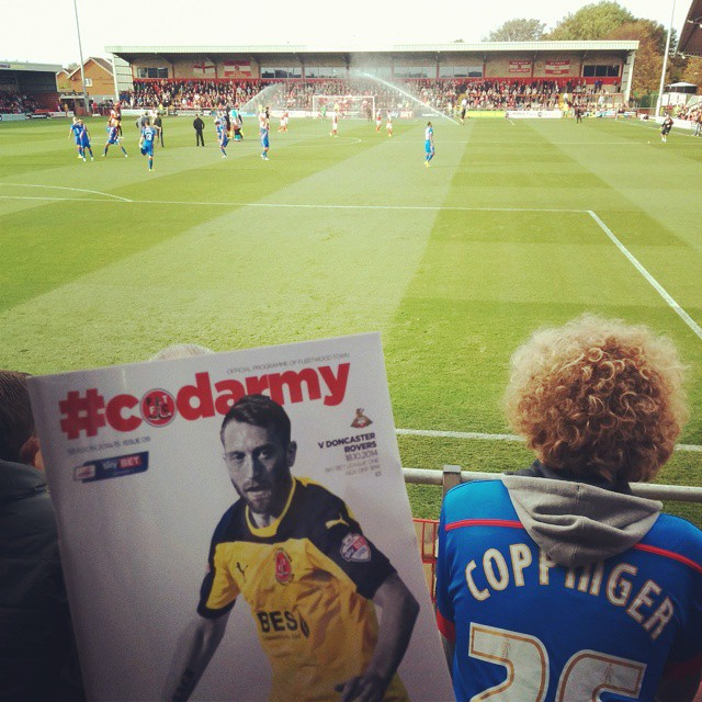 Fleetwood Town v Doncaster Rovers; view from the away stand