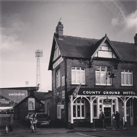The County Ground, home of Swindon Town, ahead of their game against Doncaster Rovers