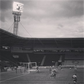 Kyle Bennett takes a free-kick during Doncaster Rovers 3-0 win over Yeovil Town