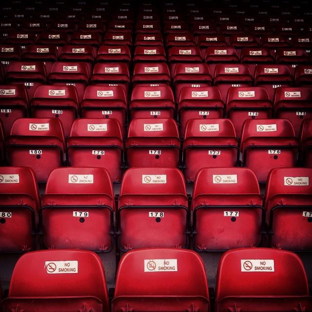 Definitely no smoking in the Bescott Stadium, Walsall