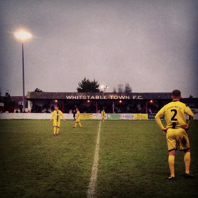 A Boxing Day derby in Kent between Whitstable Town and Herne Bay