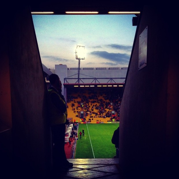 Vicarage Road, Watford ahead of the League Cup defeat to Doncaster Rovers
