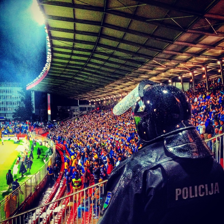 Police watch on as Bosnia & Herzegovina host Wales in Zenica