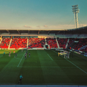Doncaster Rovers on the attack against Colchester United at the Keepmoat Stadium