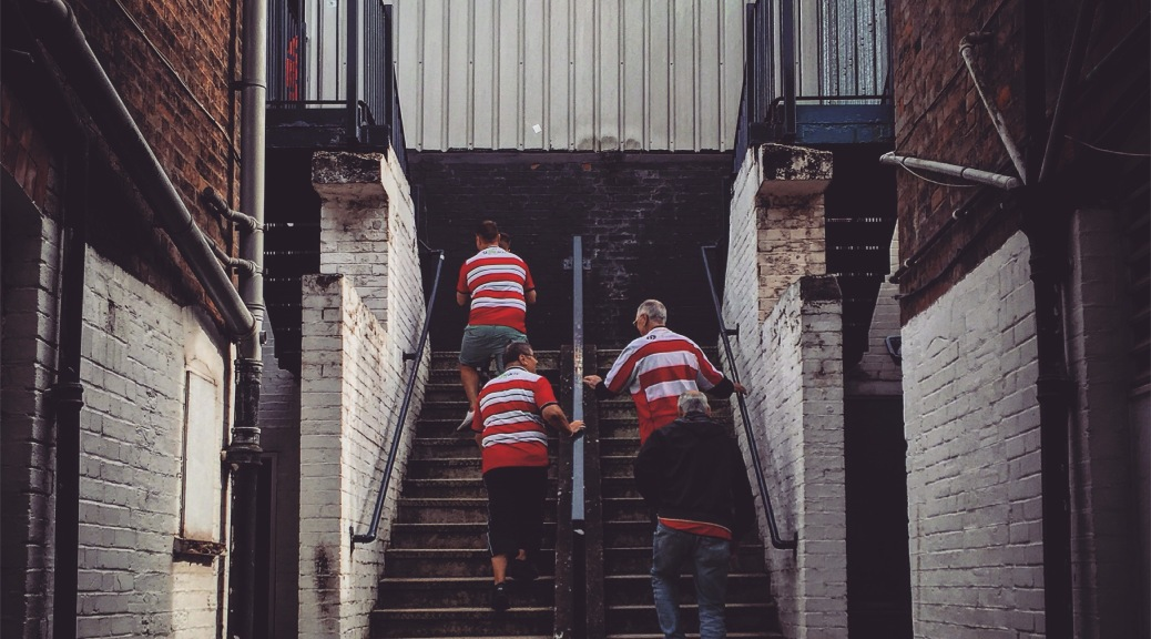 Doncaster Rovers supporters enter the away end at Luton Town's Kenilworth Road ground