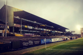 Main Stand at Plymouth Argyle's Home Park for the match against Doncaster Rovers