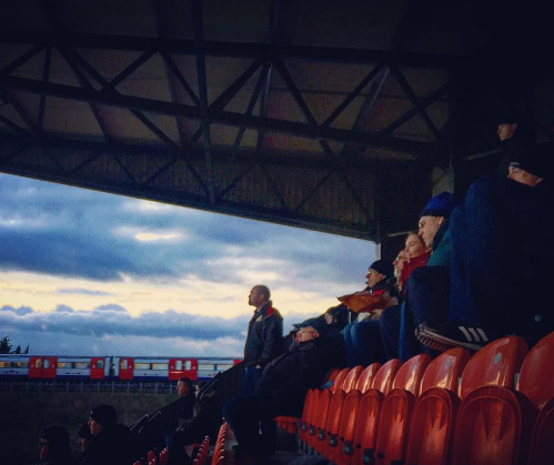 Doncaster Rovers fans watch their team during Doncaster Rovers 3-1 win over Barnet at The Hive