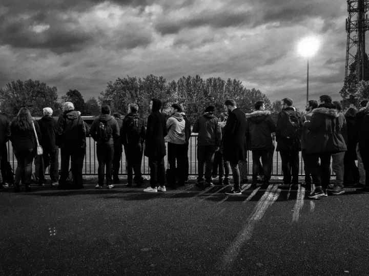 Supporters at Champion Hill during Dulwich Hamlet's 4-2 play-off win over Enfield Town