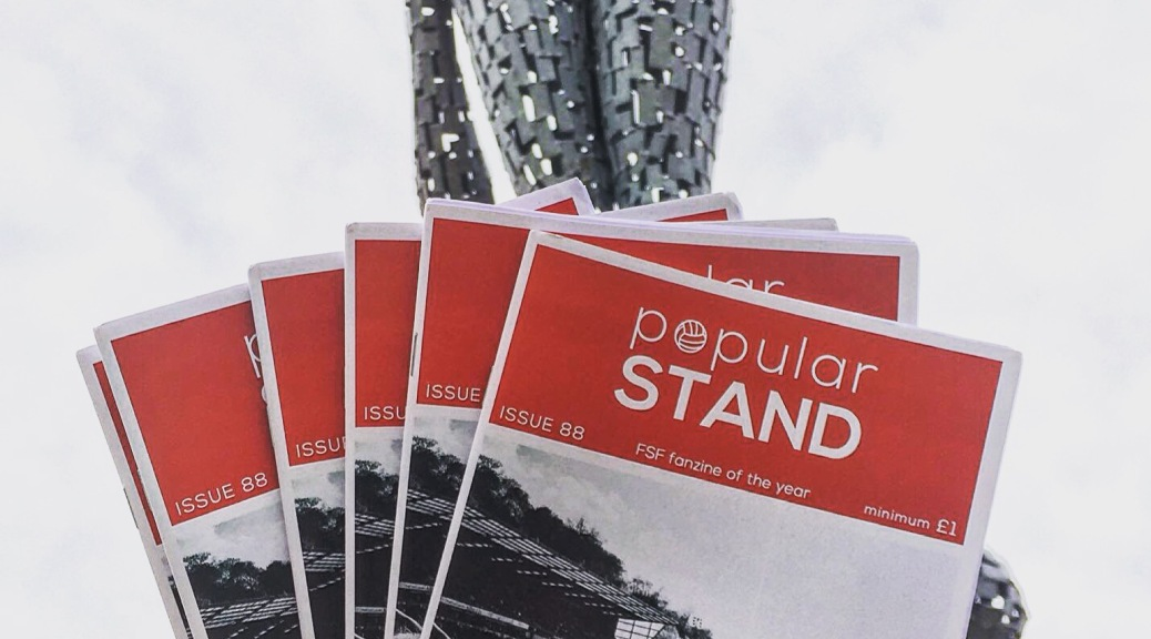 popular STAND fanzine issue 88 on sale outside Doncaster Rovers ground