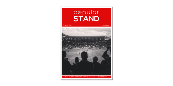 front cover of issue 92 of Doncaster Rovers fanzine, popular STAND