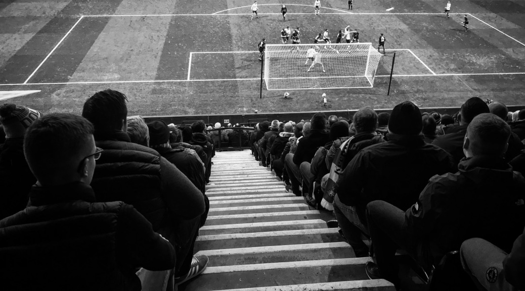 Doncaster Rovers fans watch on at Deepdale as their team take on Preston North End in the FA Cup third round