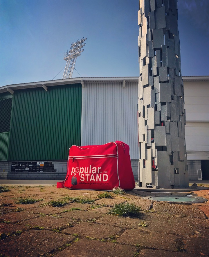 A bag full of popular STAND fanzines outside the Keepmoat Stadium ahead of Doncaster Rovers' League One match with Walsall