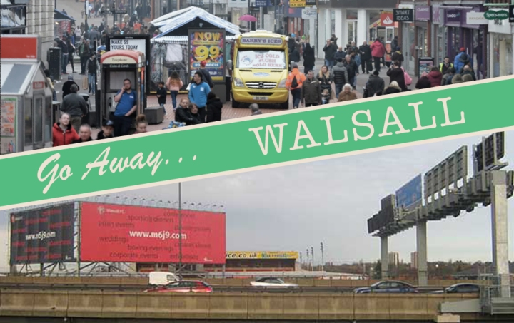 Walsall in postcard form