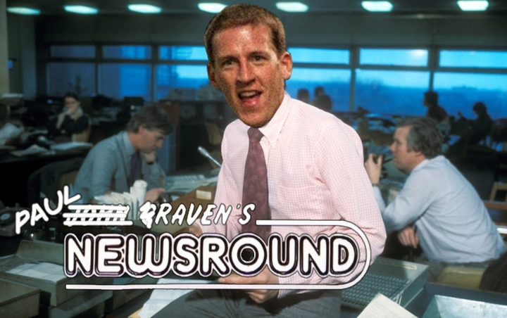 Paul Raven appears as John Craven for Paul Raven's Newsround