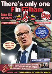 There's Only One F in Fulham fanzine