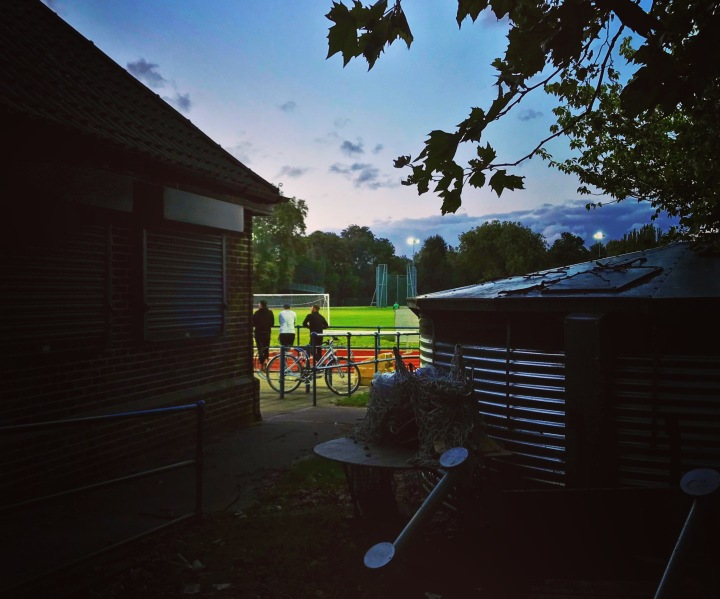 A glimpse into the ground from outside during Lewisham Borough v Forest Hill Park
