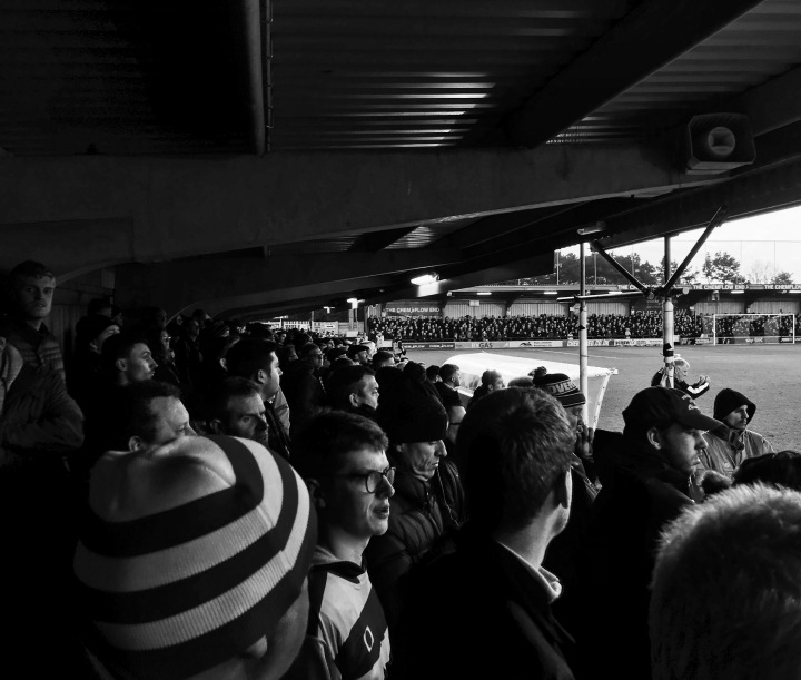 Doncaster Rovers fans packed in at AFC Wimbledon